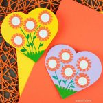 Mother's Day heart flower card
