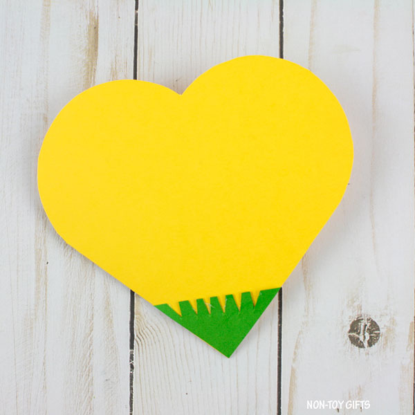 Heart with grass