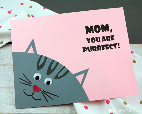 Purrfect card for mom
