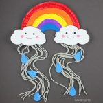 Paper plate rain cloud craft