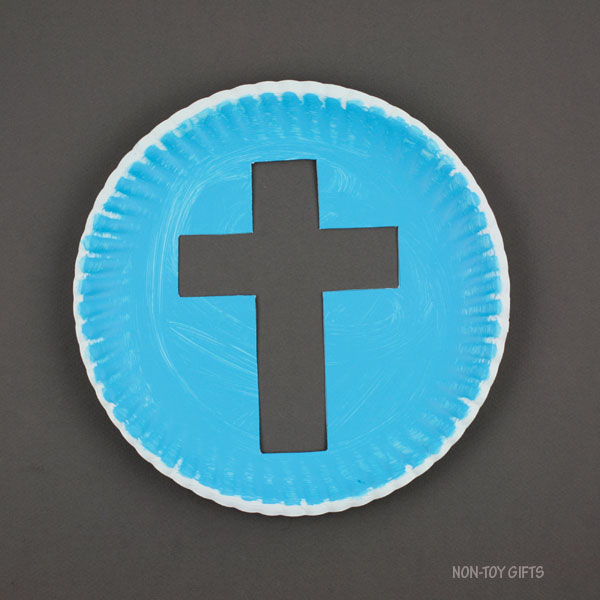 Cross on paper plate