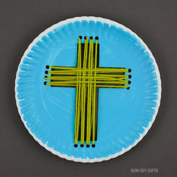 Green yarn cross