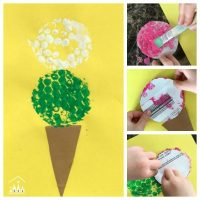 Bubble Wrap Ice Cream Craft