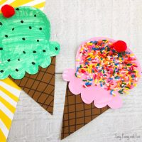 Paper Plate Ice Cream Craft