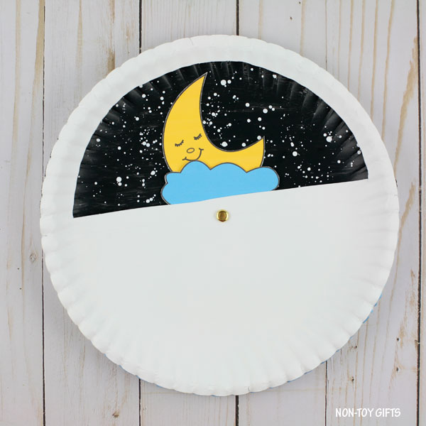 Paper plate day and night craft kids