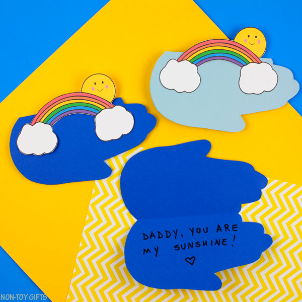 Father's Day handprint card for kids to make