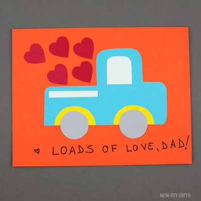 Father's Day truck craft – loads of love, dad!