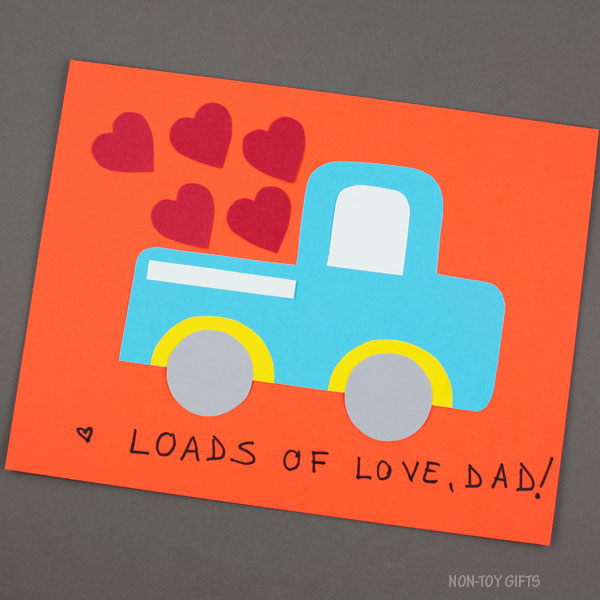 Father's Day truck craft for kids