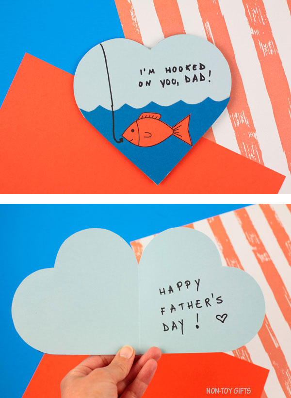 Father's Day card: Hooked on dad