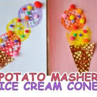 Potato Masher Ice Cream Craft