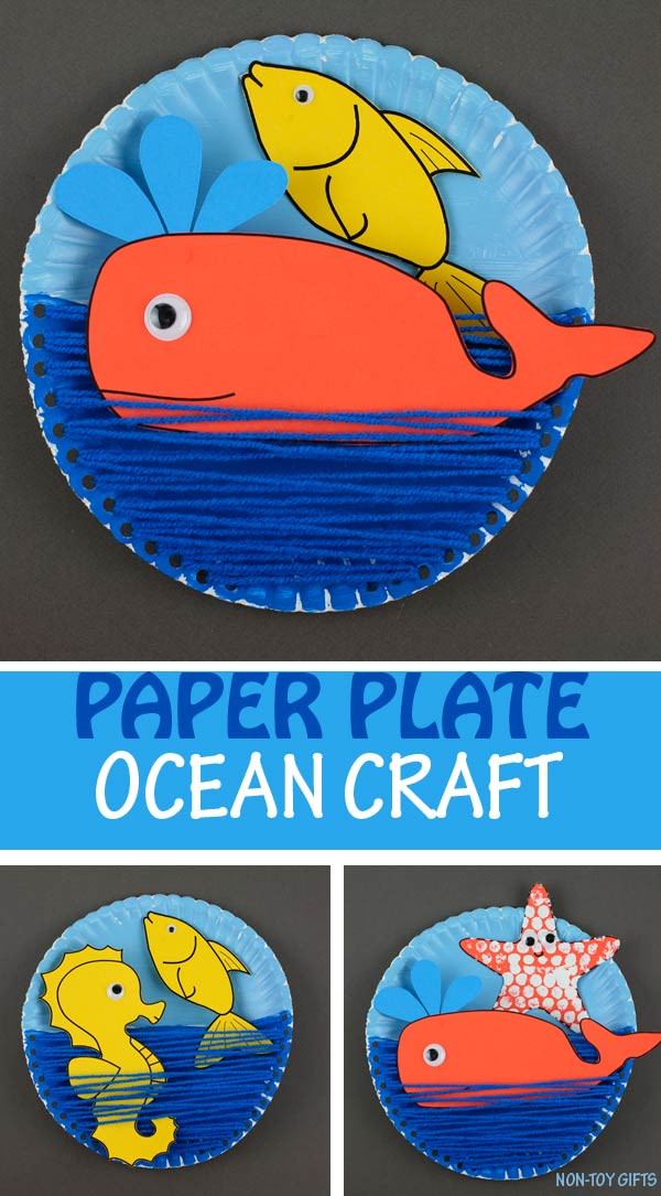 Paper plate ocean craft kids