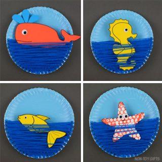 Paper plate ocean craft