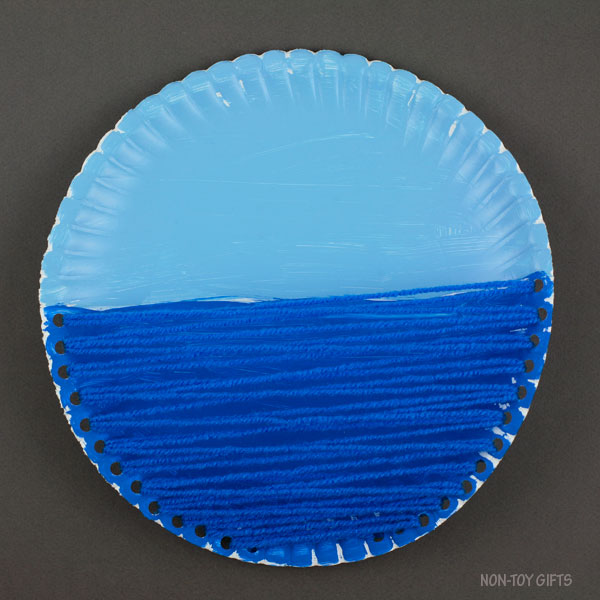 Yarn and paper plate