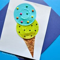 Cupcake Liner Ice Cream Cone Kids Craft