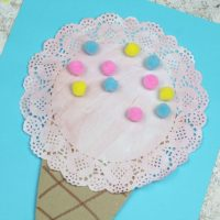 Doily Ice Cream Craft
