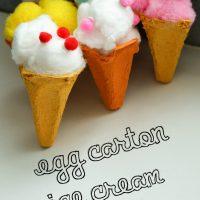 Egg Carton Ice Cream Cones