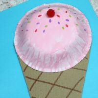 Paper Bowl Ice Cream Craft