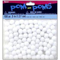 White pom poms
