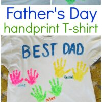 Father's Day Handprint Shirt