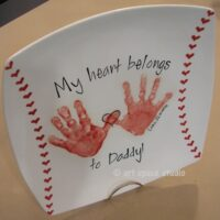 """My Heart Belongs to Dad"" Baseball Plate"