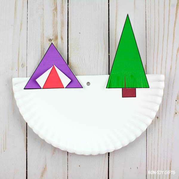 Tent on paper plate