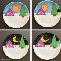 Paper plate camping craft