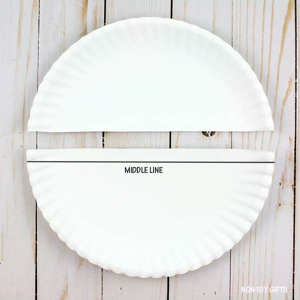 Middle line paper plate