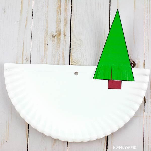 Fir tree on paper plate