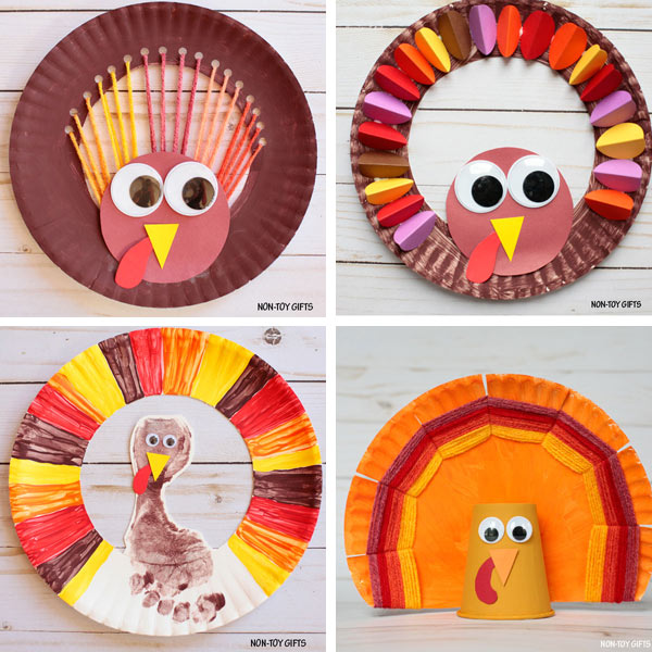 Paper plate crafts kids - Thanksgiving