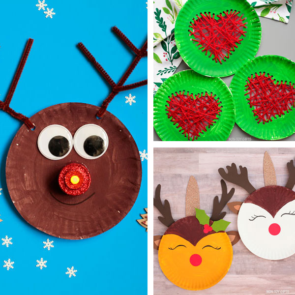 Paper plate crafts kids  - Christmas