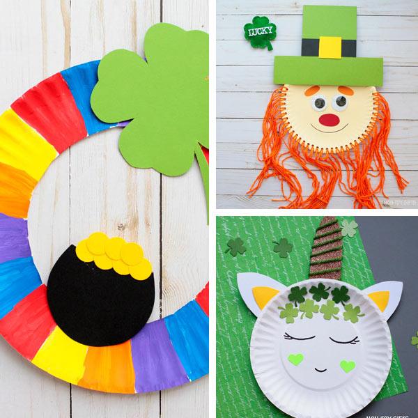 Paper plate crafts kids St Patrick