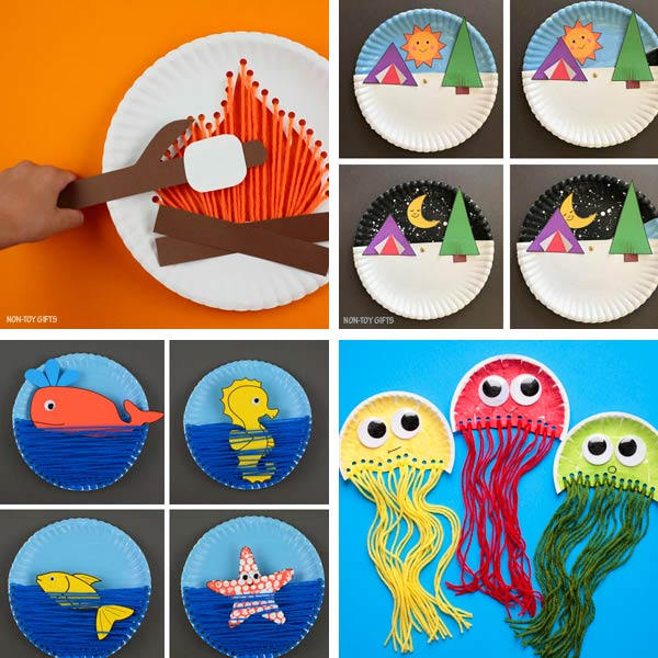 Paper plate crafts kids summer