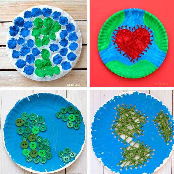 Paper plate crafts kids Earth Day