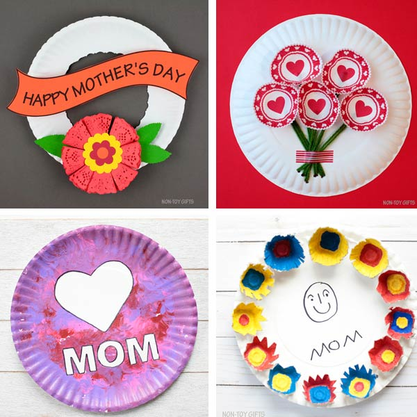 Paper plate crafts kids Mother's Day