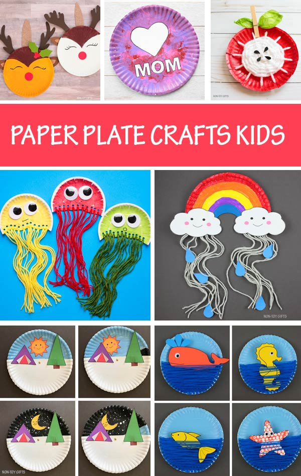 Paper plate crafts kids