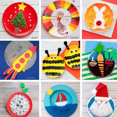 63 Paper plate crafts kids