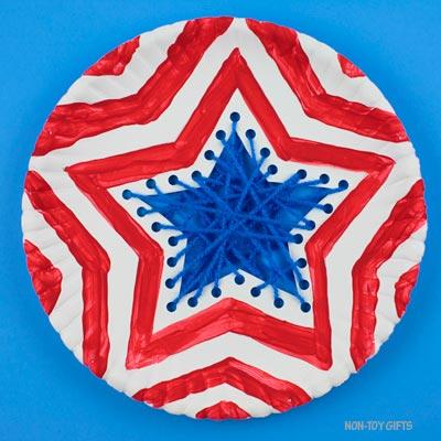 Paper plate patriotic craft