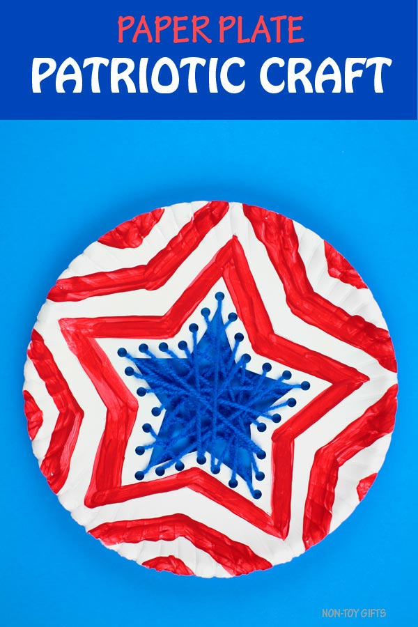Paper plate patriotic craft kids