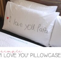 'I Love You' Pillowcase