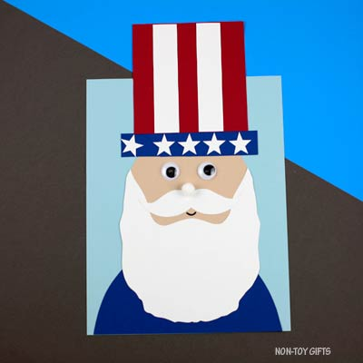 Uncle Sam craft for kids – 4th of July craft