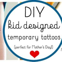 DIY Temporary Tattoos Designed by Kids!