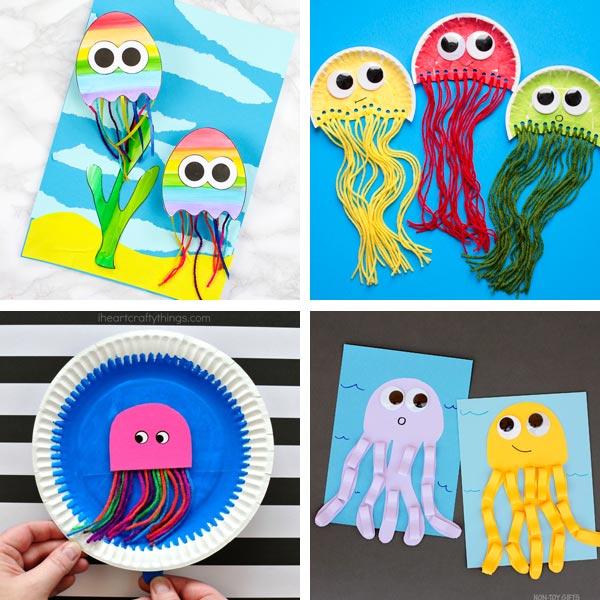 Jellyfish crafts kids