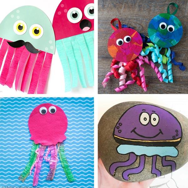 Summer ocean crafts: jellyfish crafts