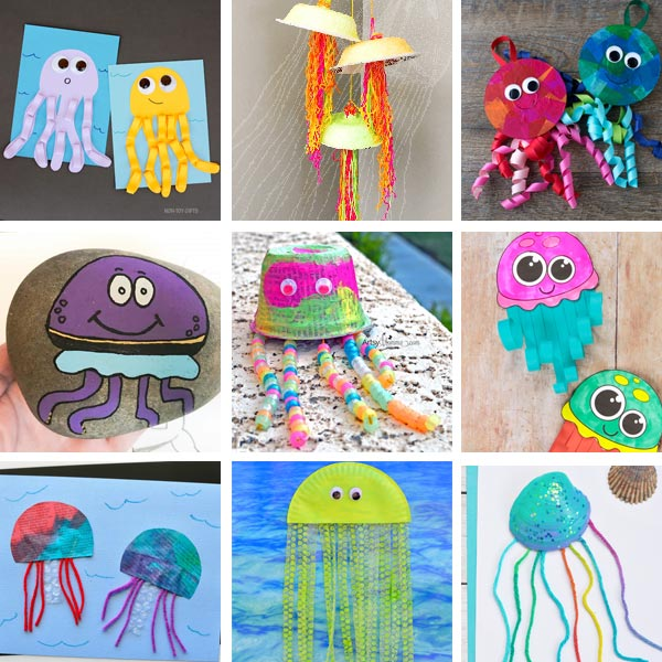 Jellyfish crafts for toddlers, preschoolers and older kids
