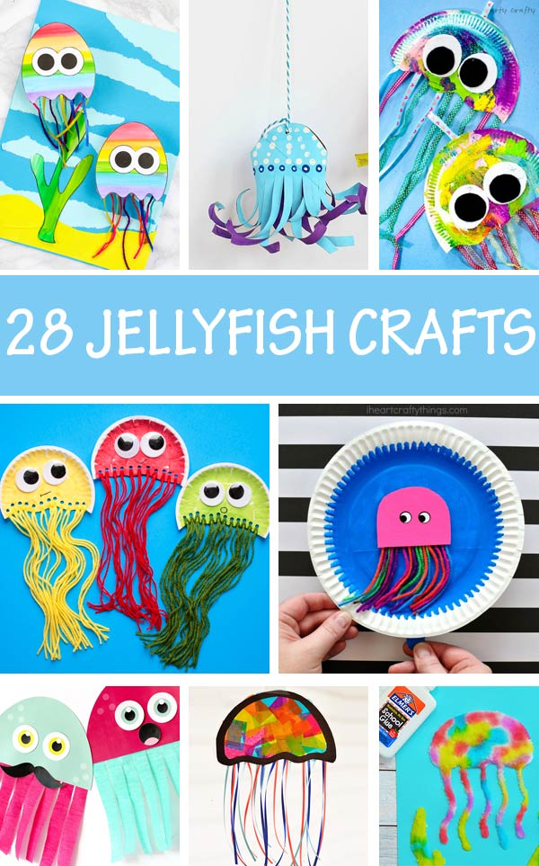 Jellyfish craft ideas for preschoolers and older kids
