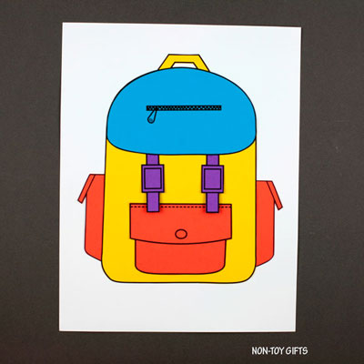 Paper backpack craft