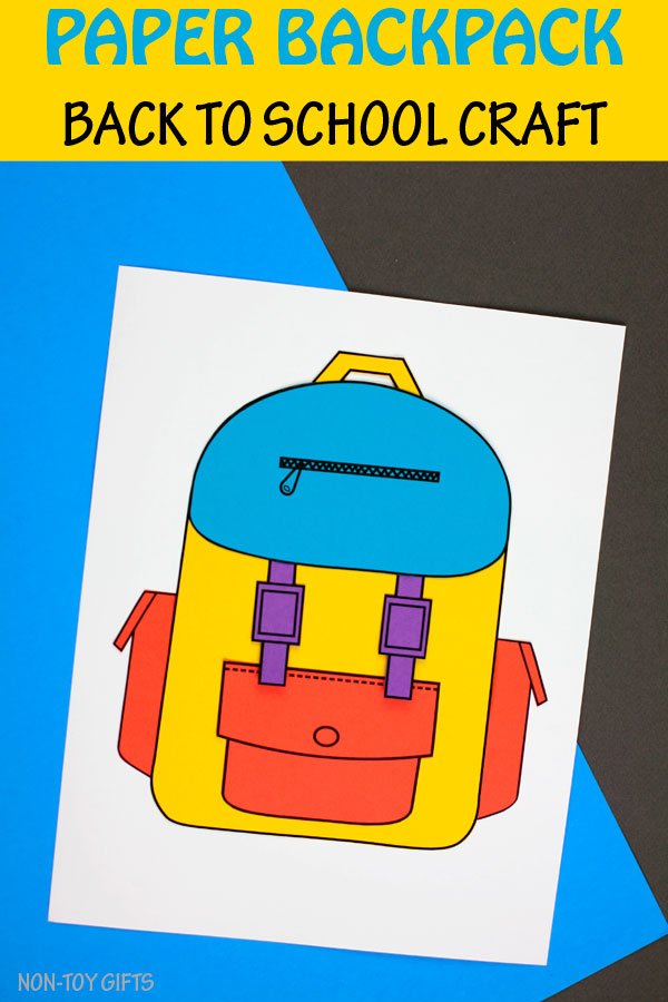 Back to school backpack craft