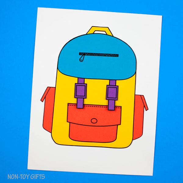 Backpack craft for kids