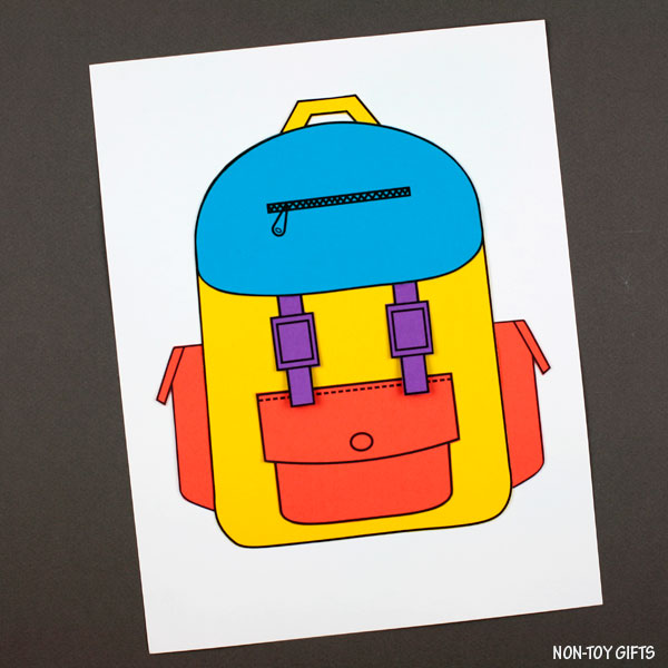 Easy backpack craft