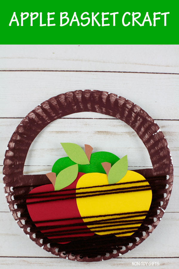 Apple basket craft kids